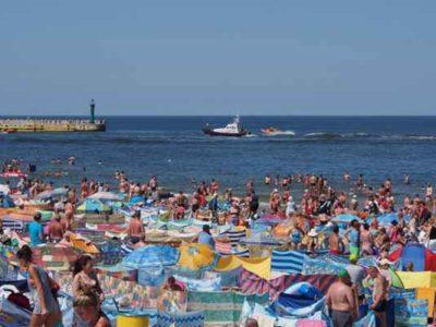 Klasyczne zdjęcie na morskiej plaży