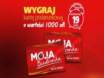 Promocja Biedronka Wojcieszów  nagroda moja Biedronka